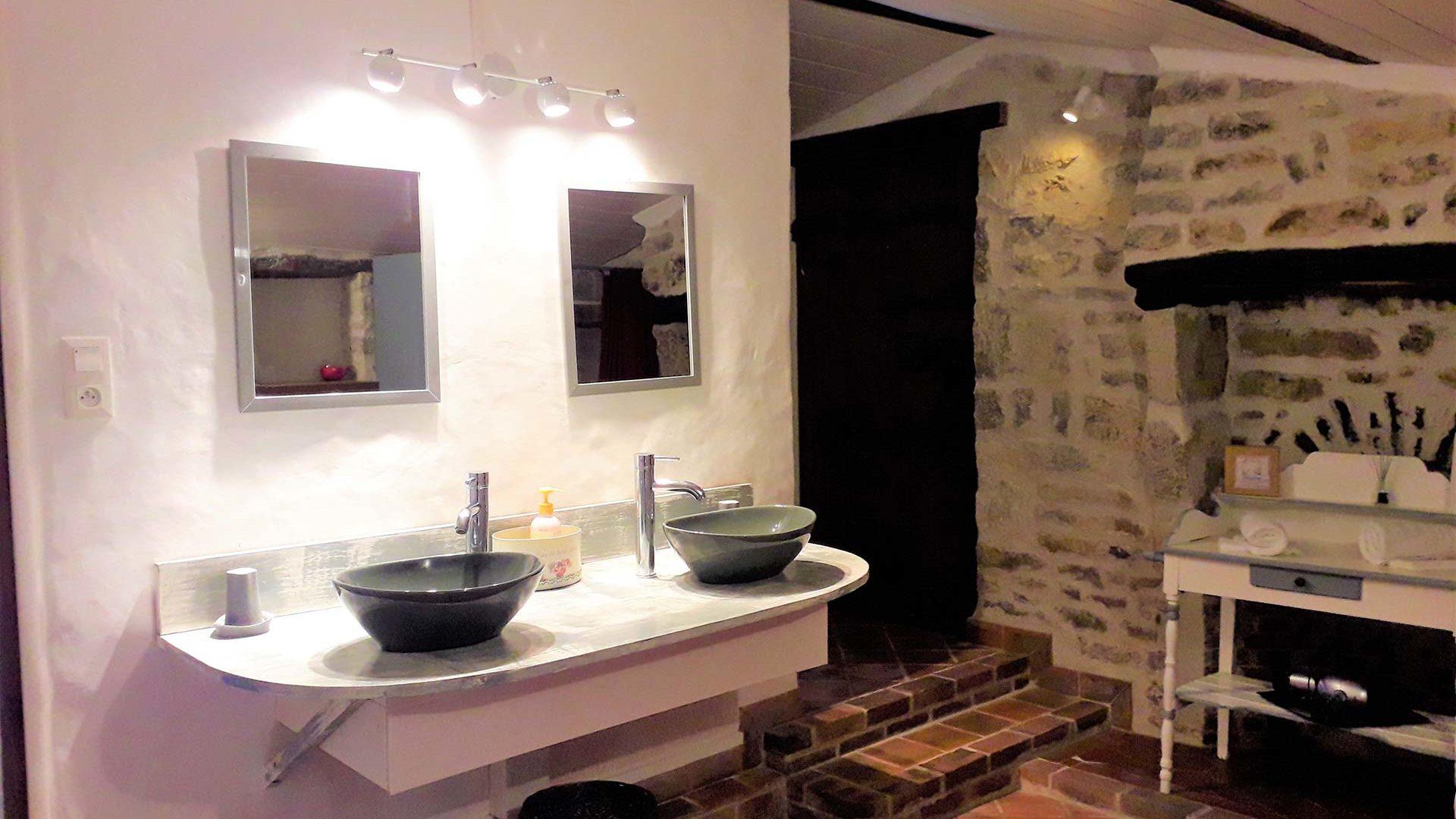 salle d'eau d'une chambre d'hôtes